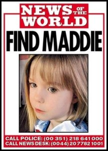 Madelaine McCann 4 years old, missing since 3 May 2007 while on holiday in Portugal